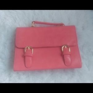 Handbags - 3/$20 Bright Pink Saddle Bag Purse w/ Dual Handles